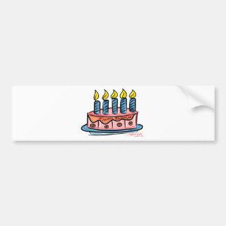 Feliz cumpleaños pegatina para auto