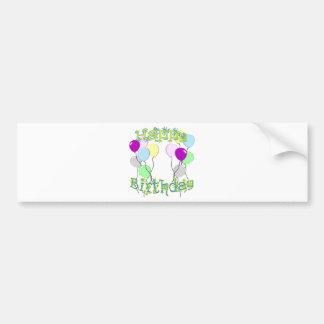 Feliz cumpleaños - pegatina para el parachoques en pegatina para auto