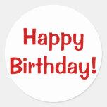 ¡Feliz cumpleaños! Pegatina Redonda