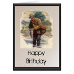 Feliz cumpleaños - pesca con mosca en el río felicitacion