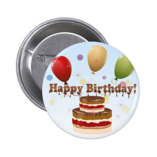 Feliz cumpleaños pin redondo 5 cm