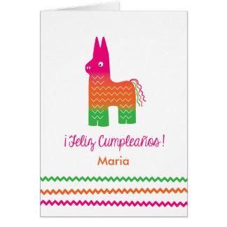 Feliz Cumpleaños Piñata Birthday Card