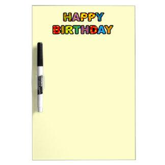 Feliz cumpleaños pizarras blancas