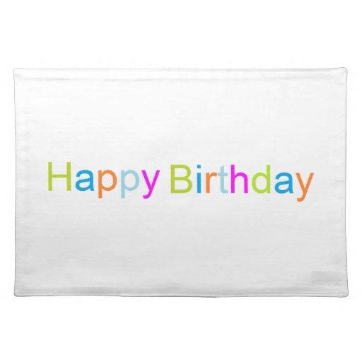 Feliz cumpleaños Placemat Manteles Individuales