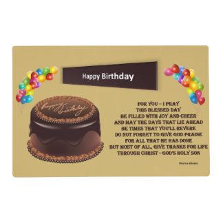 Feliz cumpleaños - Placemat Salvamanteles