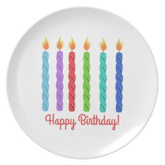 Feliz cumpleaños platos