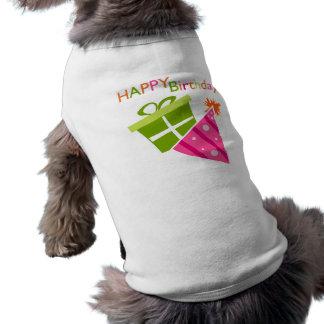 Feliz cumpleaños playera sin mangas para perro