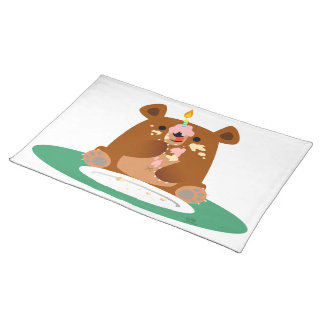 ¡Feliz cumpleaños, poco oso!! Placemat Mantel Individual
