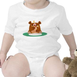 ¡Feliz cumpleaños poco oso Trajes De Bebé