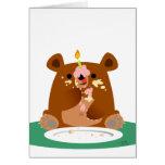 ¡Feliz cumpleaños poco oso! Tarjeta
