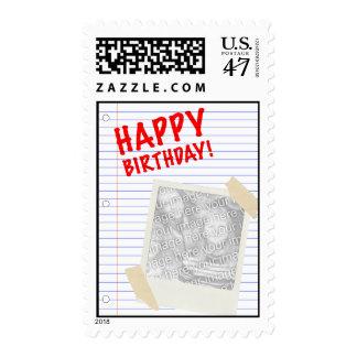 ¡feliz cumpleaños! polaroid timbres postales