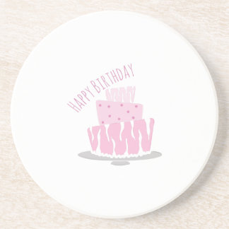 Feliz cumpleaños posavaso para bebida