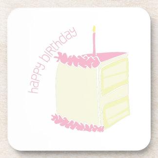 Feliz cumpleaños posavasos de bebidas