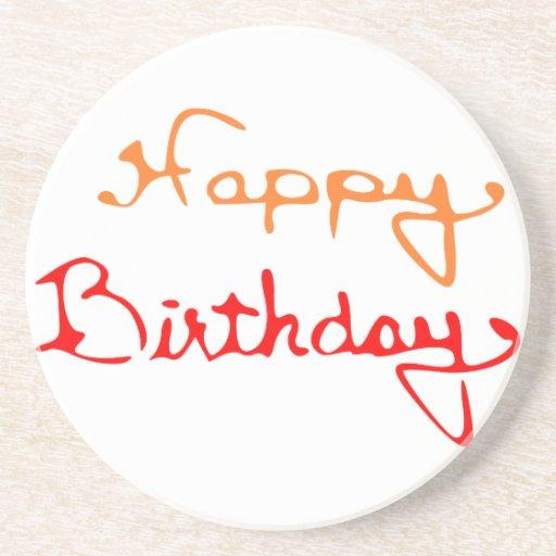 Feliz cumpleaños posavasos personalizados