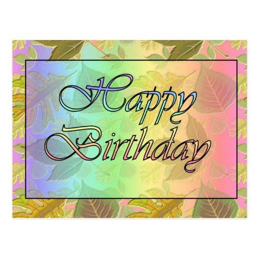 Feliz cumpleaños postal