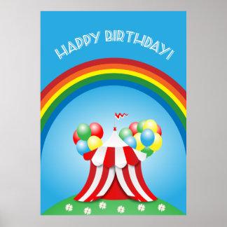 Feliz cumpleaños póster