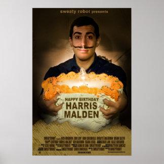 """""""Feliz cumpleaños poster de Harris Malden"""""""