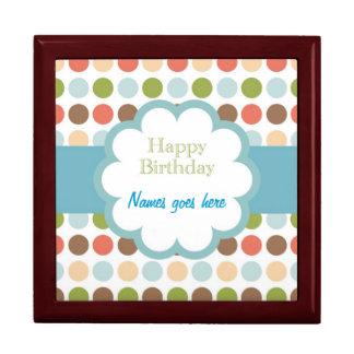 Feliz cumpleaños (puntos del poka) cajas de joyas