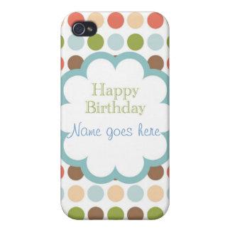 Feliz cumpleaños (puntos del poka) iPhone 4/4S carcasas
