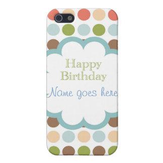Feliz cumpleaños (puntos del poka) iPhone 5 funda