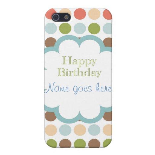 Feliz cumpleaños (puntos del poka) iPhone 5 fundas