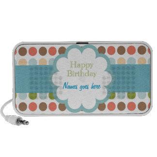 Feliz cumpleaños (puntos del poka) laptop altavoz