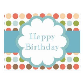 Feliz cumpleaños (puntos del poka) postales