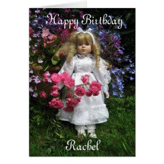 Feliz cumpleaños Raquel Tarjeta De Felicitación