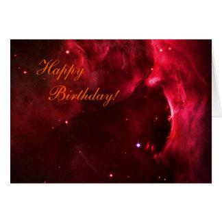Feliz cumpleaños - región esculpida de nebulosa de tarjeta de felicitación