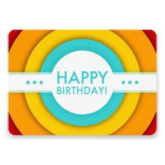 """feliz cumpleaños retro invitación 5"""" x 7"""""""