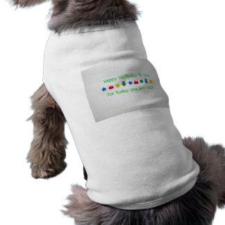 Feliz cumpleaños camisas de mascota