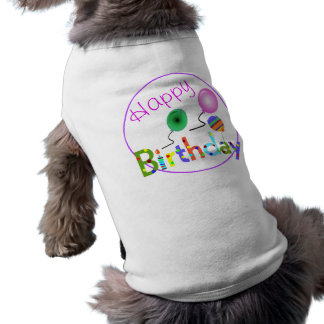 Feliz cumpleaños prenda mascota