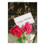 Feliz cumpleaños - rosas tarjetas