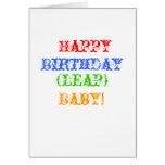 ¡Feliz, cumpleaños, (salto), bebé! Tarjeta De Felicitación