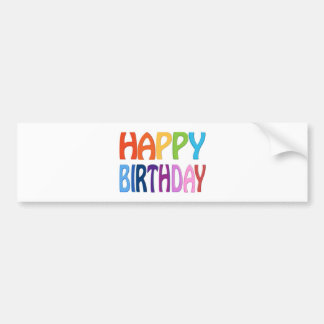 Feliz cumpleaños - saludo colorido feliz etiqueta de parachoque