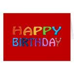 Feliz cumpleaños - saludo colorido feliz tarjeta