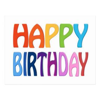 Feliz cumpleaños - saludo colorido feliz postales