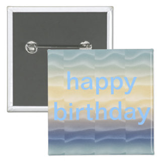 Feliz cumpleaños Sandunes coloreado Pin