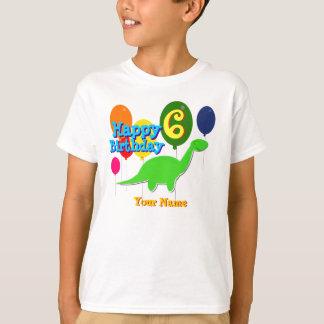 Feliz cumpleaños seis años de los globos de playera