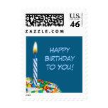 Feliz cumpleaños sello - azul