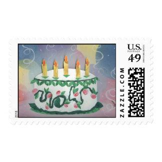 Feliz cumpleaños sello de 45 centavos