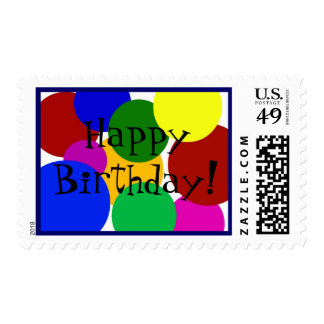 ¡Feliz cumpleaños! Sello Postal