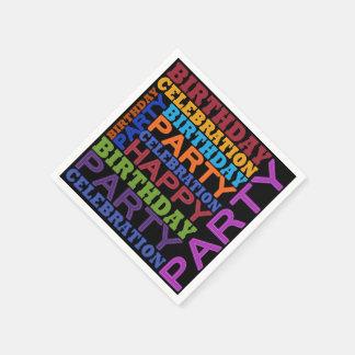 feliz cumpleaños servilleta desechable