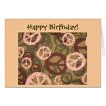 ¡Feliz cumpleaños! - Signos de la paz/tarjeta de l