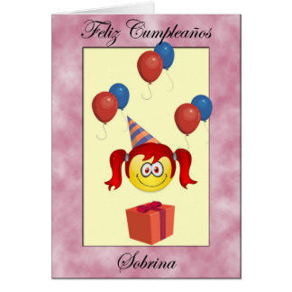 Feliz Cumpleaños sobrina Card