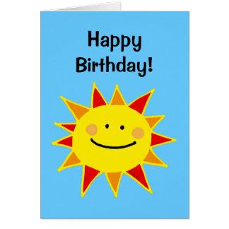 Feliz cumpleaños (sol lindo) tarjeta de felicitación