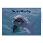 ¡Feliz cumpleaños sonriente del delfín! Tarjeta De Felicitación
