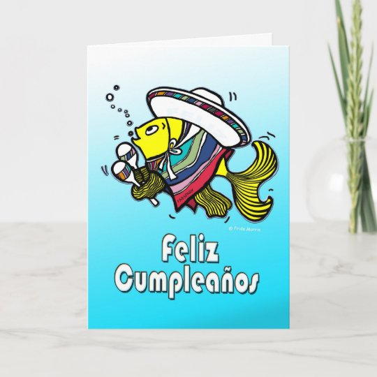 FELIZ CUMPLEANOS Spanish Funny Mexican Fish Bday Card