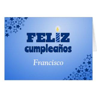 Feliz cumpleanos spanish personalized birthday card