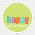 Feliz cumpleaños Sticker2 Etiquetas Redondas